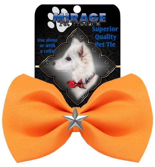 Silver Star Widget Pet Bowtie Orange