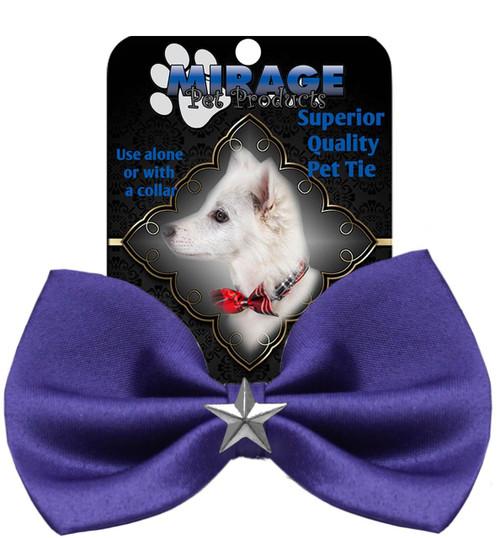 Silver Star Widget Pet Bowtie Purple