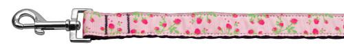 Roses Nylon Ribbon Leash Light Pink 1 Inch Wide 4ft Long - 125-020 1004LPK