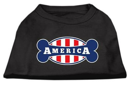 Bonely In America Screen Print Shirt Black  Lg (14)