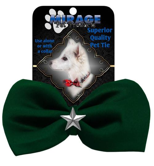 Silver Star Widget Pet Bowtie Green