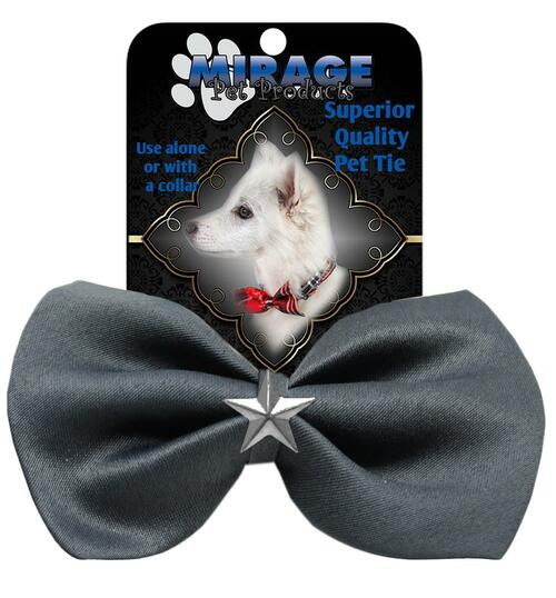 Silver Star Widget Pet Bowtie Grey