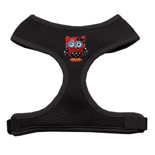 Patriotic Owls Chipper Black Harness Medium