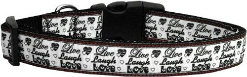 Live Laugh And Love Dog Collar Large