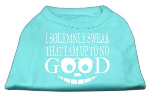 Up To No Good Screen Print Shirt Aqua Lg (14)