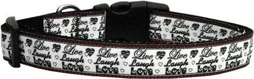 Live Laugh And Love Dog Collar Medium