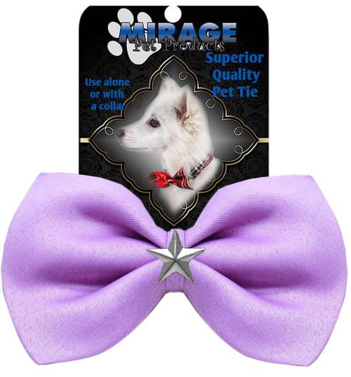 Silver Star Widget Pet Bowtie Lavender
