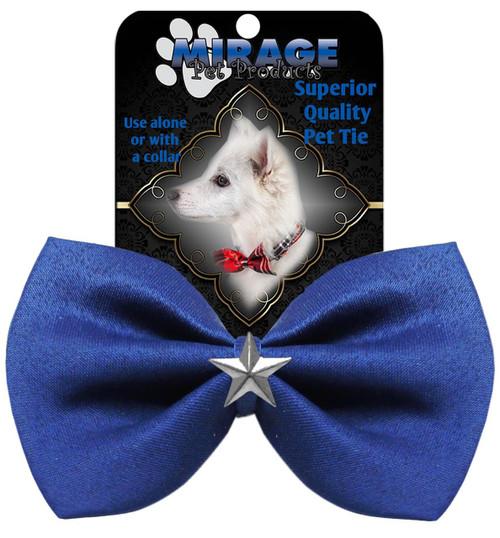 Silver Star Widget Pet Bowtie Blue
