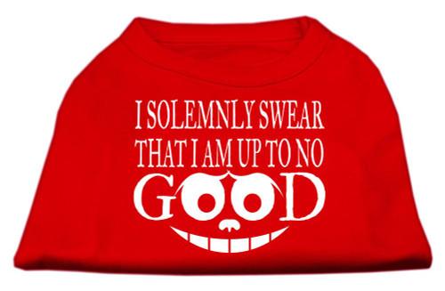 Up To No Good Screen Print Shirt Red Lg (14)