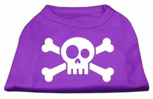 Skull Crossbone Screen Print Shirt Purple Xs (8)