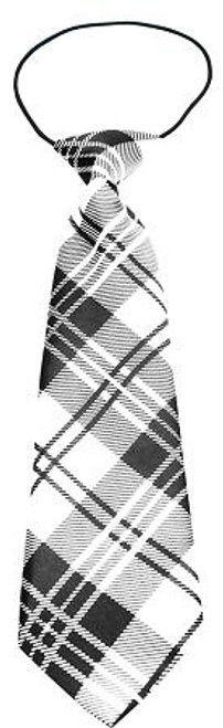 Big Dog Neck Tie Plaid White