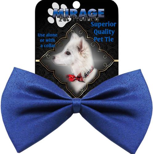 Plain Blue Bow Tie