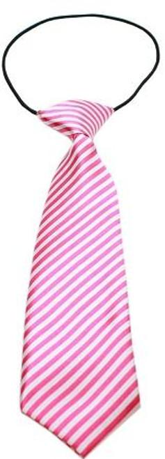Big Dog Neck Tie Striped Pink