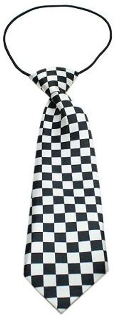 Big Dog Neck Tie Checkered Black
