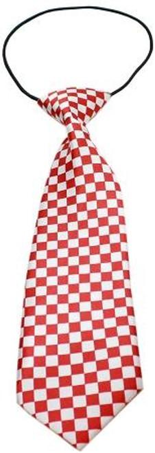 Big Dog Neck Tie Checkered Red