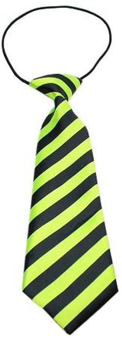 Big Dog Neck Tie Striped Lime