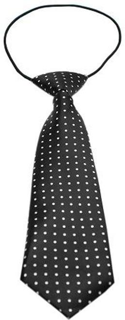 Big Dog Neck Tie Swiss Dot Black