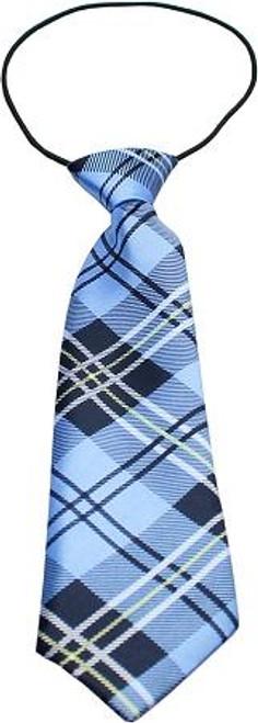 Big Dog Neck Tie Plaid Blue