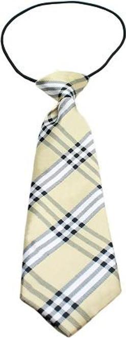 Big Dog Neck Tie Plaid Cream