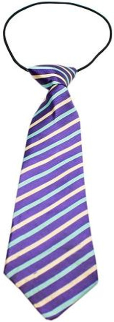 Big Dog Neck Tie Purple And Aqua Stripes