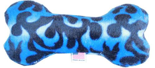 "6"" Plush Bone Dog Toy Blue Flame"