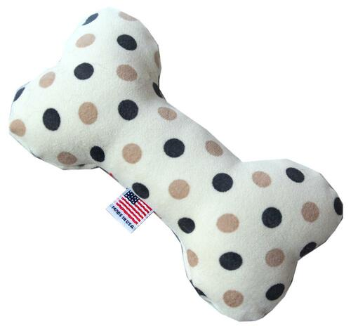"6"" Plush Bone Dog Toy Beach Dots"