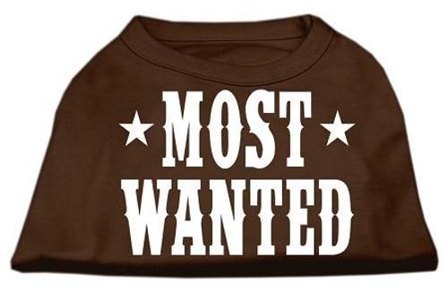 Most Wanted Screen Print Shirt Brown Xl (16)