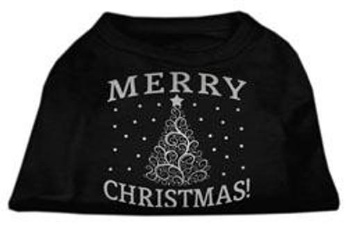 Shimmer Christmas Tree Pet Shirt Black Sm (10)