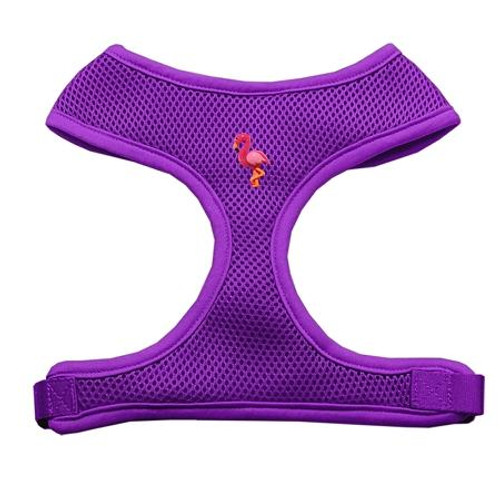 Pink Flamingo Chipper Purple Harness Large