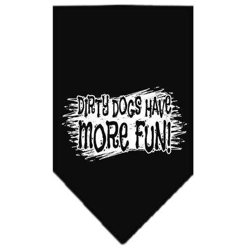 Dirty Dog Screen Print Bandana Black Large