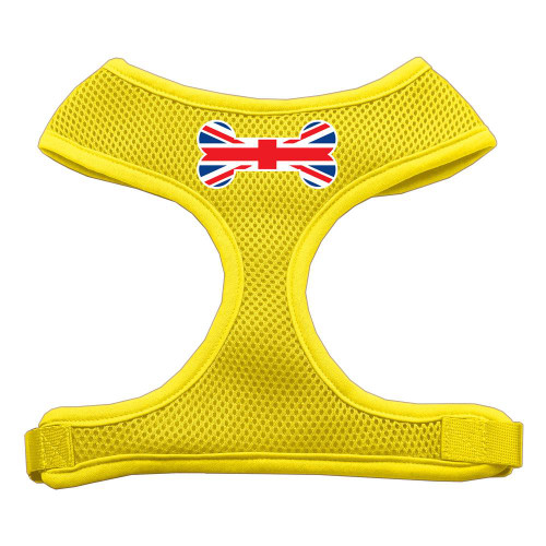 Bone Flag Uk Screen Print Soft Mesh Harness Yellow Small