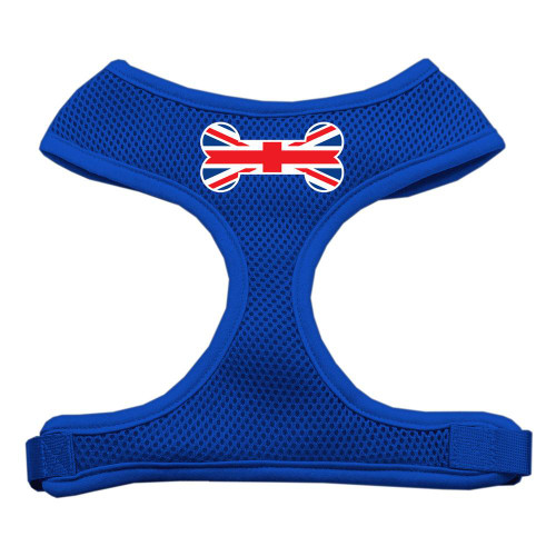 Bone Flag Uk Screen Print Soft Mesh Harness Blue Small