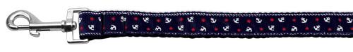 Anchors Nylon Ribbon Leash Blue 1 Inch Wide 4ft Long