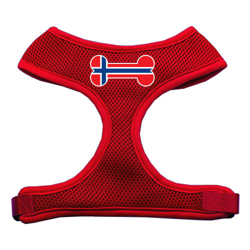 Bone Flag Norway Screen Print Soft Mesh Harness Red Extra Large