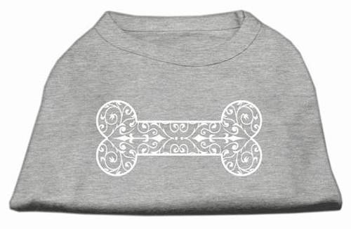 Henna Bone Screen Print Shirt Grey Xxl (18)