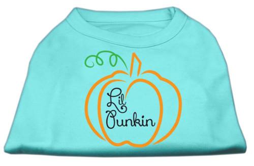 Lil Punkin Screen Print Dog Shirt Aqua Med (12)