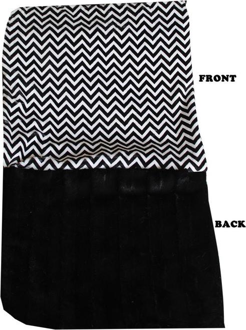 Luxurious Plush Big Baby Blanket Black Chevron