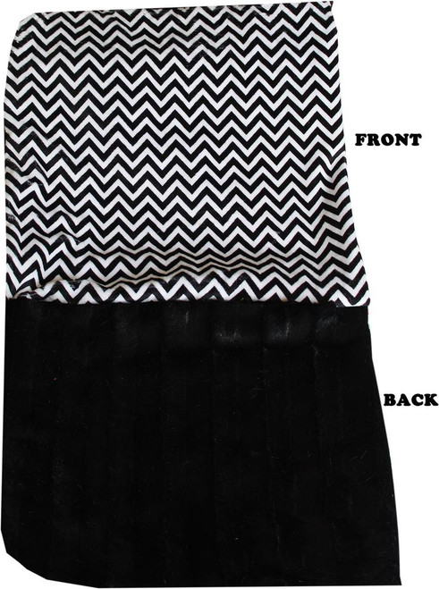 Luxurious Plush Itty Bitty Baby Blanket Black Chevron