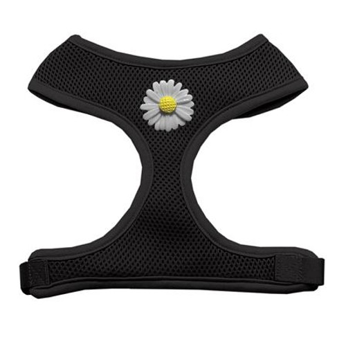 White Daisies Chipper Black Harness Large