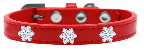 Snowflake Widget Dog Collar Red Size 10