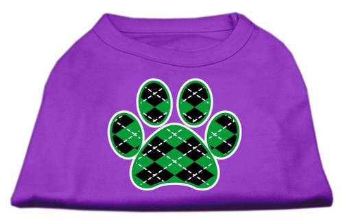 Argyle Paw Green Screen Print Shirt Purple Med (12)