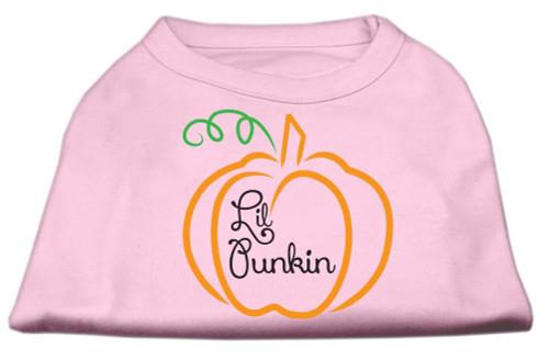 Lil Punkin Screen Print Dog Shirt Light Pink Sm (10)