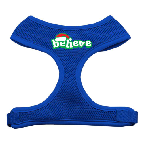 Believe Screen Print Soft Mesh Harnesses  Blue Extra Large