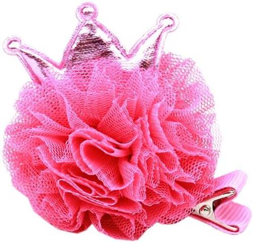 Princess Puff Clip-on Bright Pink