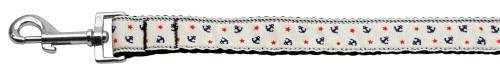 Anchors Nylon Ribbon Leash White 1 Inch Wide 6ft Long