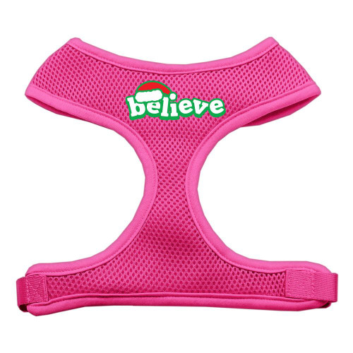 Believe Screen Print Soft Mesh Harnesses  Pink Extra Large
