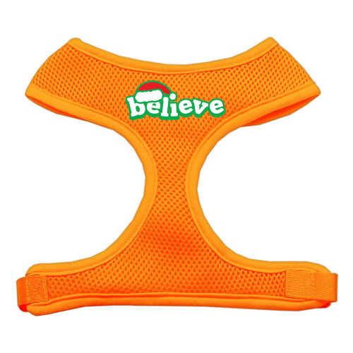 Believe Screen Print Soft Mesh Harnesses  Orange Extra Large