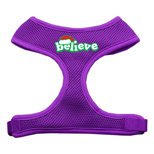 Believe Screen Print Soft Mesh Harnesses  Purple Extra Large