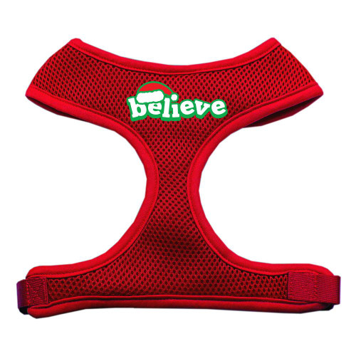 Believe Screen Print Soft Mesh Harnesses  Red Extra Large