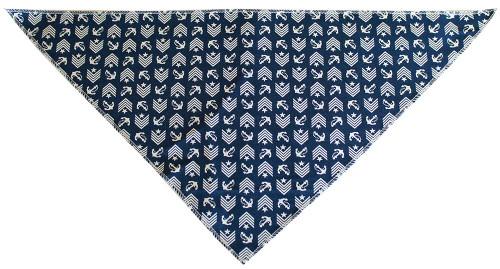 Blue Anchor Tie-on Pet Bandana Size Large